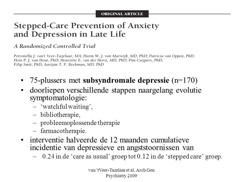van tVeer-Tazelaar et al. Arch Gen Psychiatry 2009