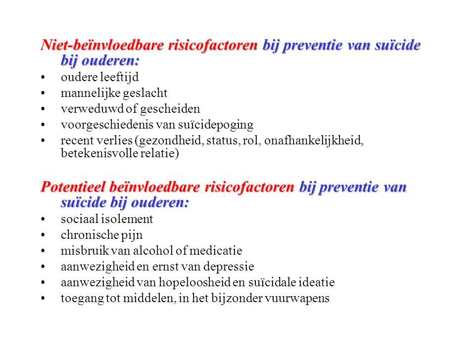 Niet-beïnvloedbare risicofactoren bij preventie van suïcide bij ouderen: