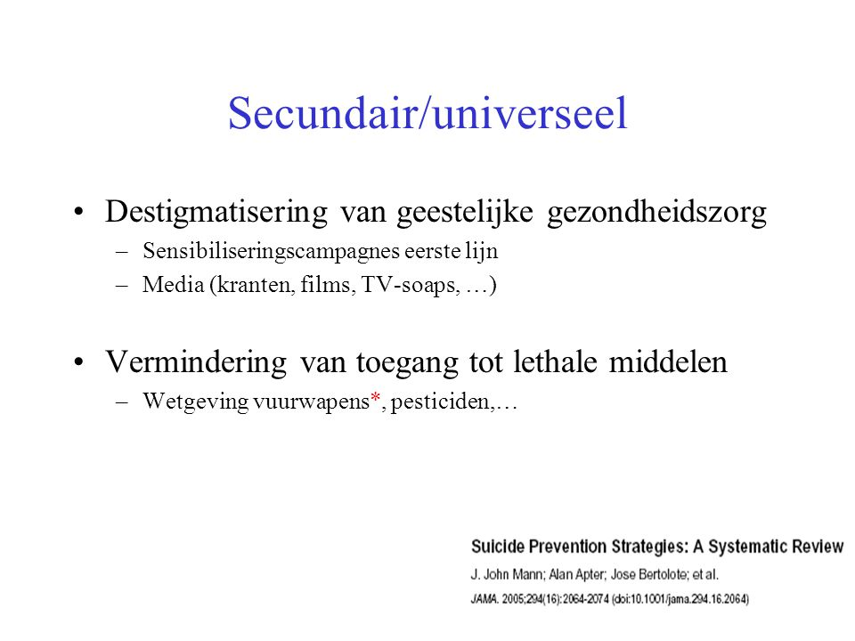 Secundair/universeel
