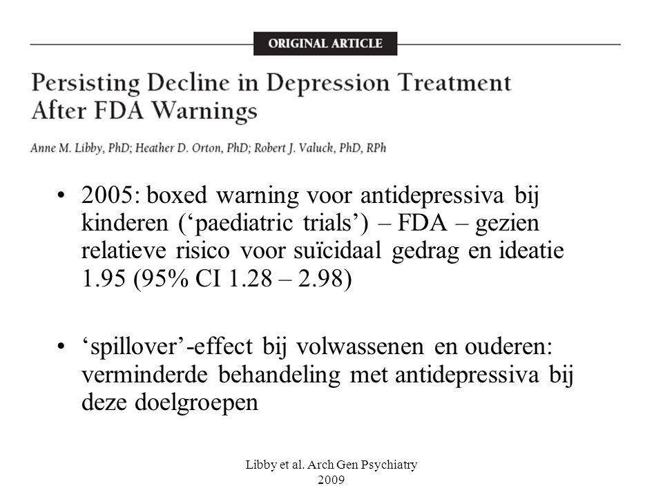 Libby et al. Arch Gen Psychiatry 2009