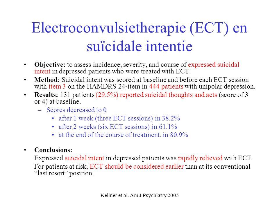 Electroconvulsietherapie (ECT) en suïcidale intentie
