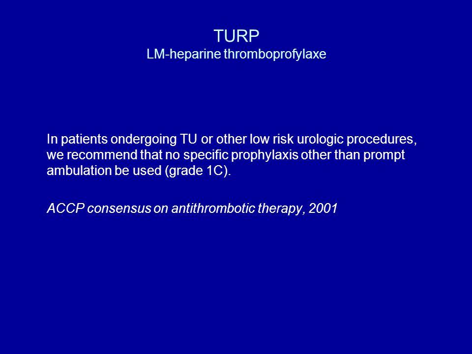 TURP LM-heparine thromboprofylaxe