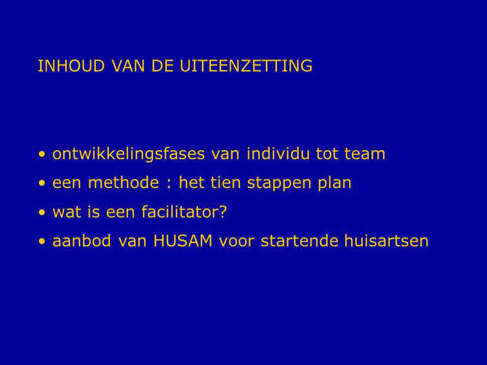 INHOUD VAN DE UITEENZETTING