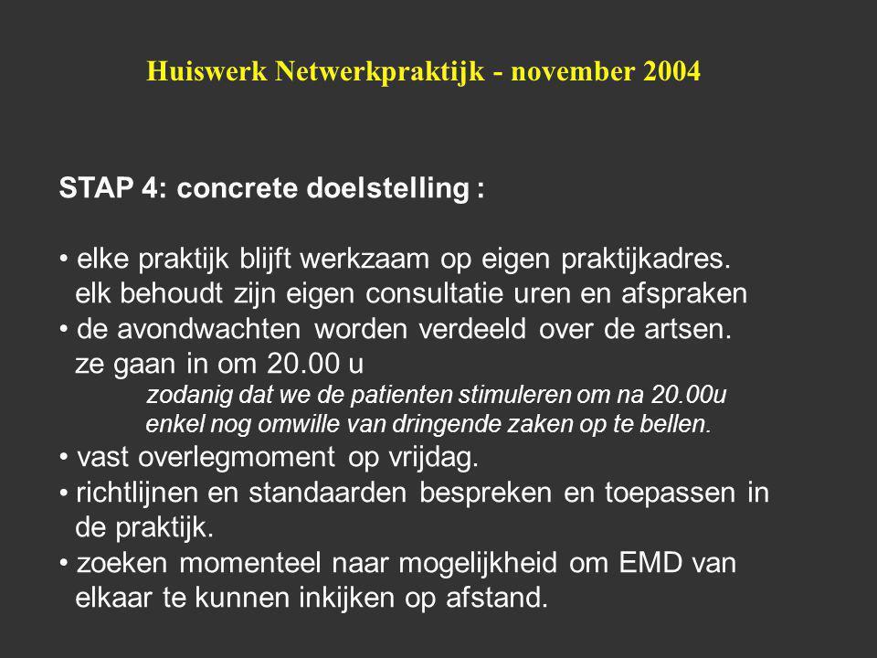 Huiswerk Netwerkpraktijk - november 2004