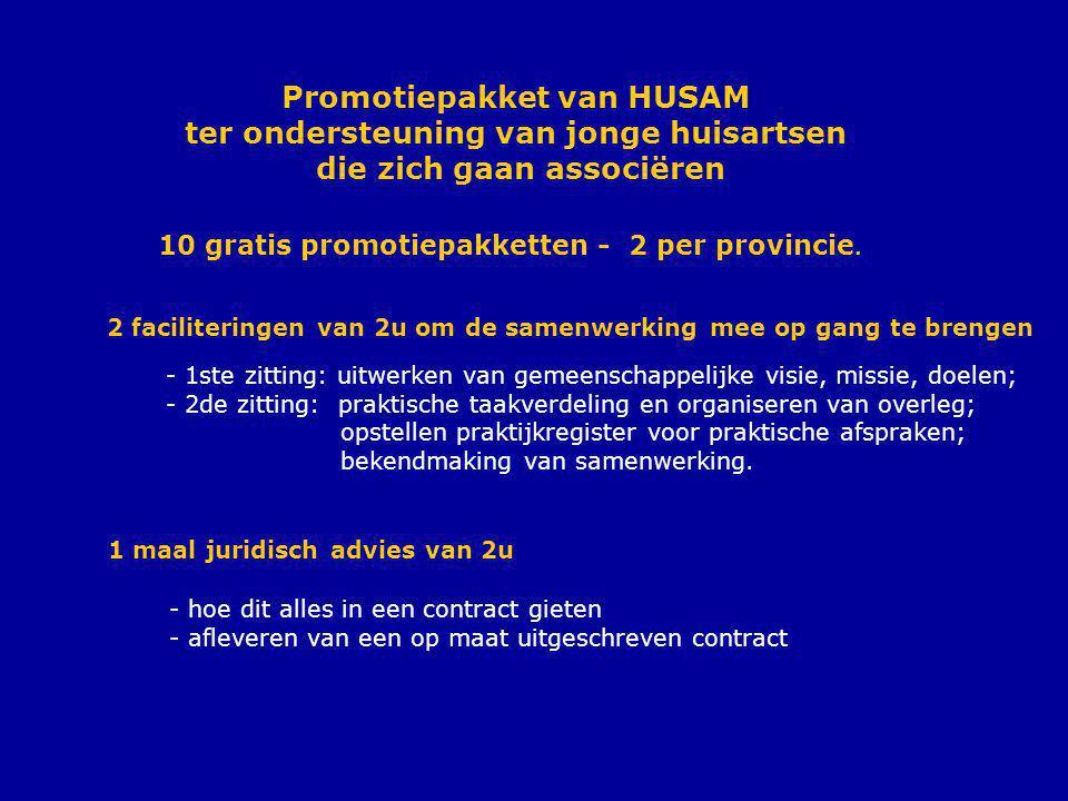 Promotiepakket van HUSAM ter ondersteuning van jonge huisartsen