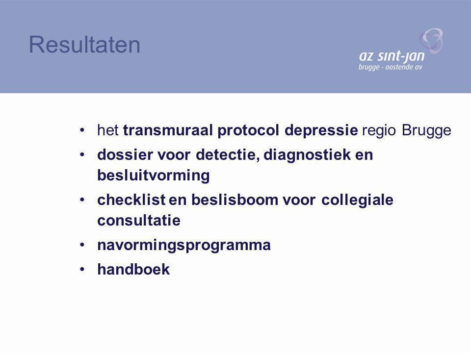 Resultaten het transmuraal protocol depressie regio Brugge
