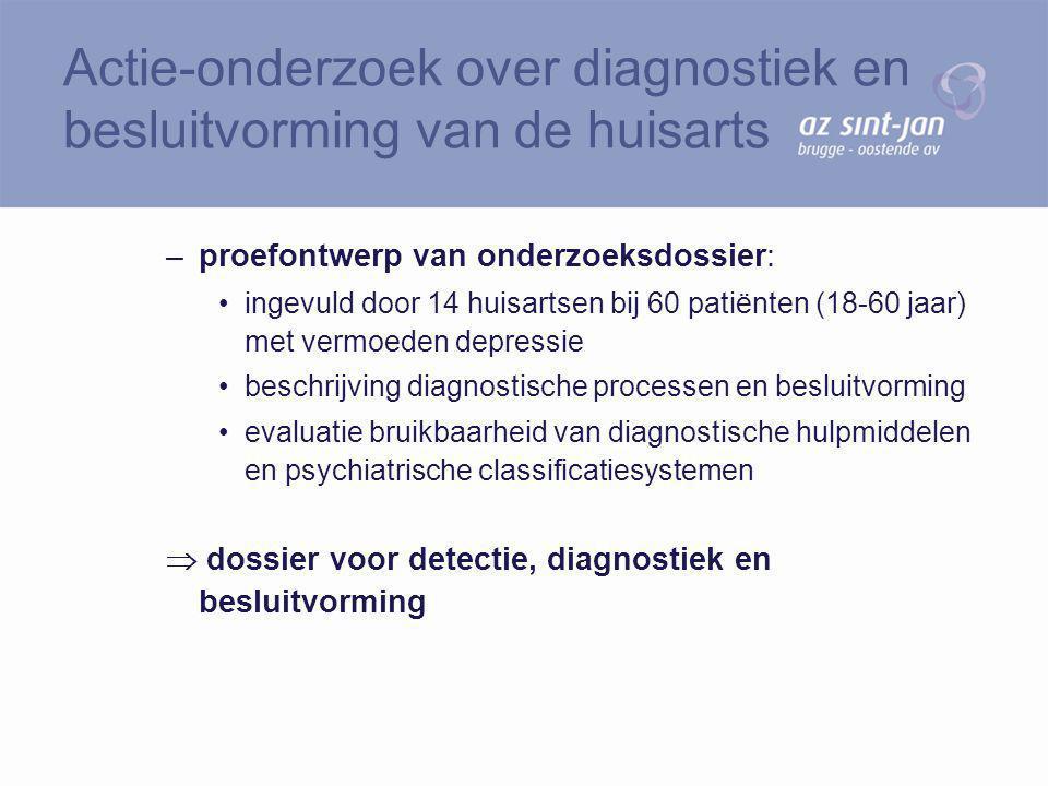 Actie-onderzoek over diagnostiek en besluitvorming van de huisarts