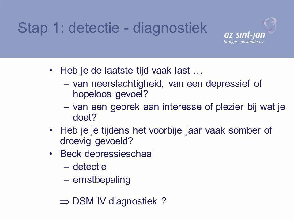 Stap 1: detectie - diagnostiek