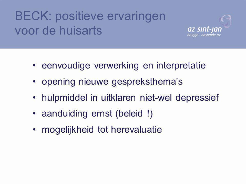 BECK: positieve ervaringen voor de huisarts