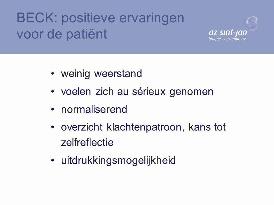 BECK: positieve ervaringen voor de patiënt