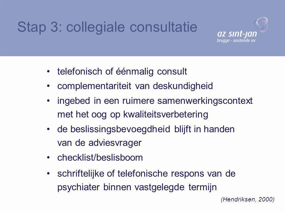 Stap 3: collegiale consultatie