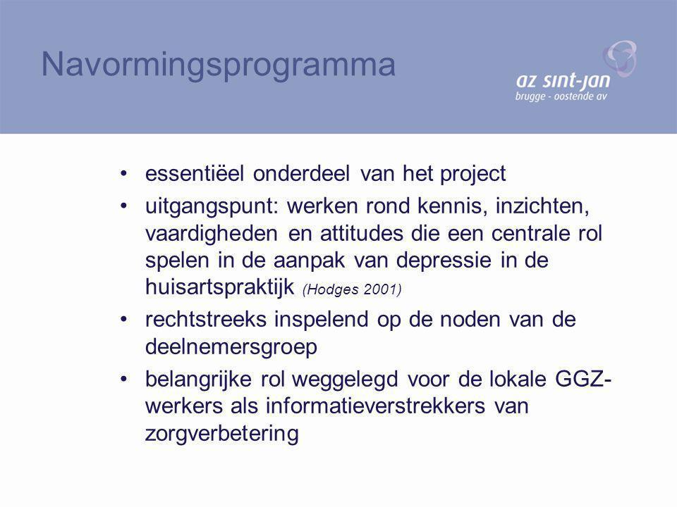 Navormingsprogramma essentiëel onderdeel van het project