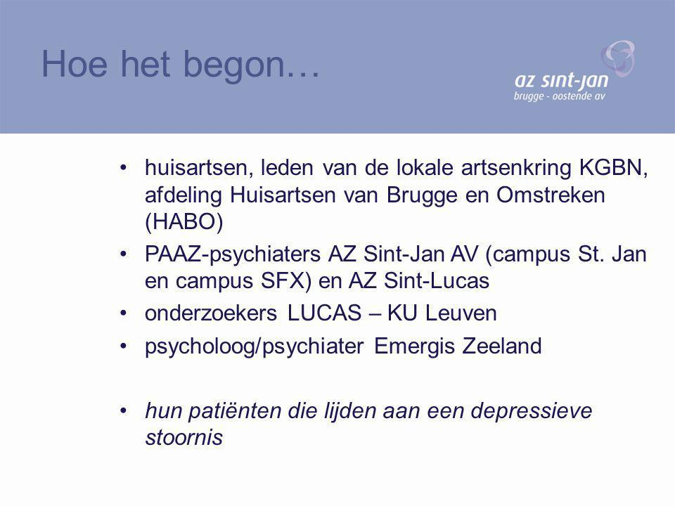 Hoe het begon… huisartsen, leden van de lokale artsenkring KGBN, afdeling Huisartsen van Brugge en Omstreken (HABO)