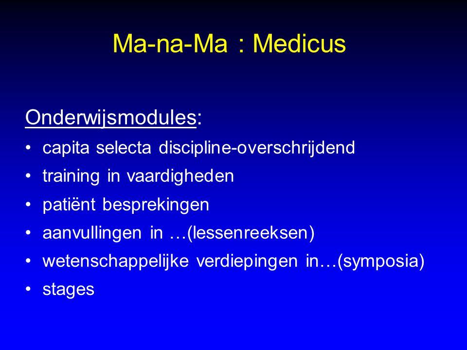 Ma-na-Ma : Medicus Onderwijsmodules: