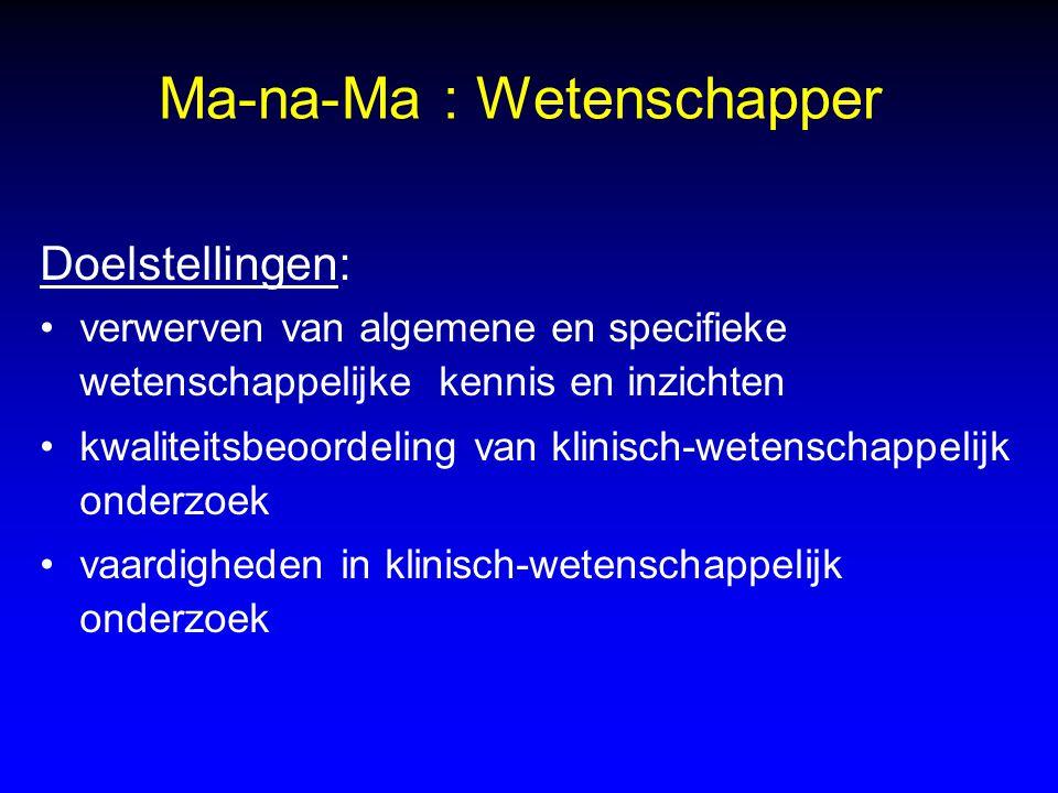 Ma-na-Ma : Wetenschapper