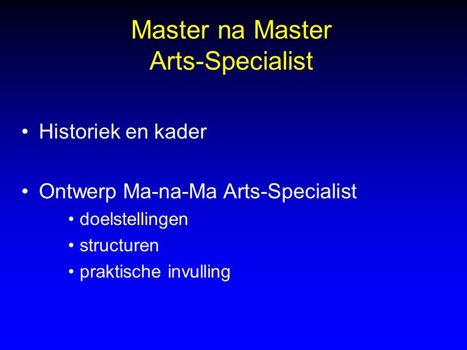 Master na Master Arts-Specialist