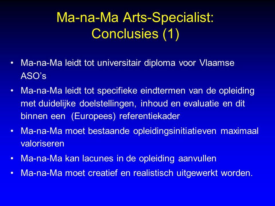 Ma-na-Ma Arts-Specialist: Conclusies (1)