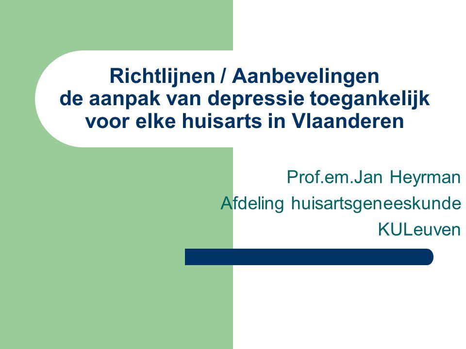 Prof.em.Jan Heyrman Afdeling huisartsgeneeskunde KULeuven