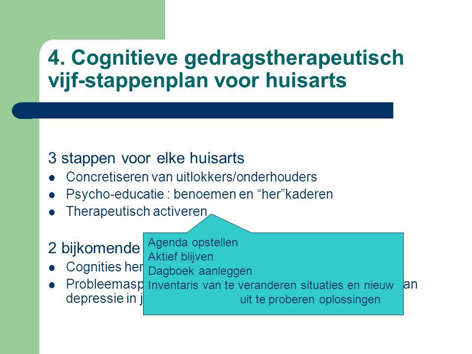 4. Cognitieve gedragstherapeutisch vijf-stappenplan voor huisarts