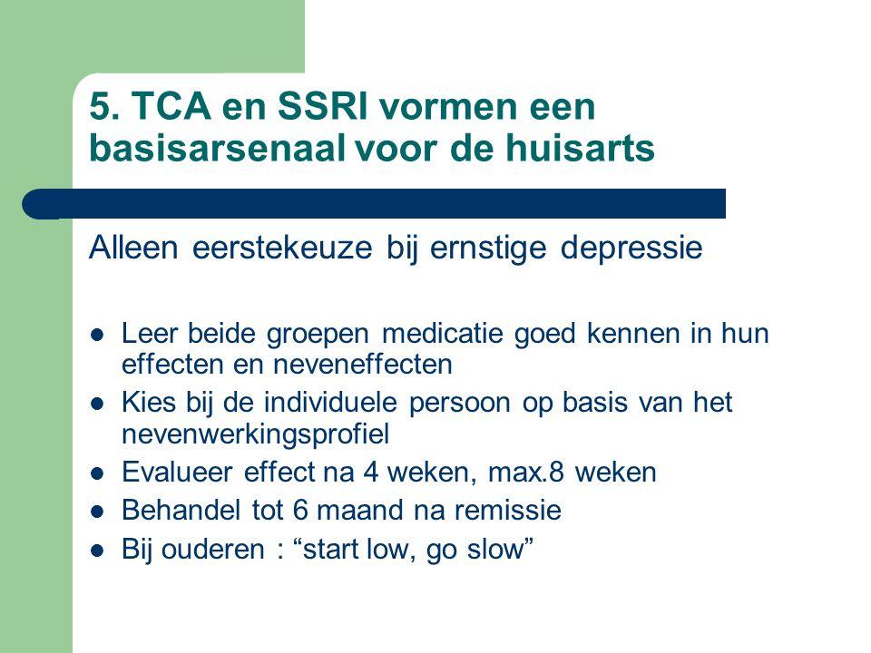5. TCA en SSRI vormen een basisarsenaal voor de huisarts