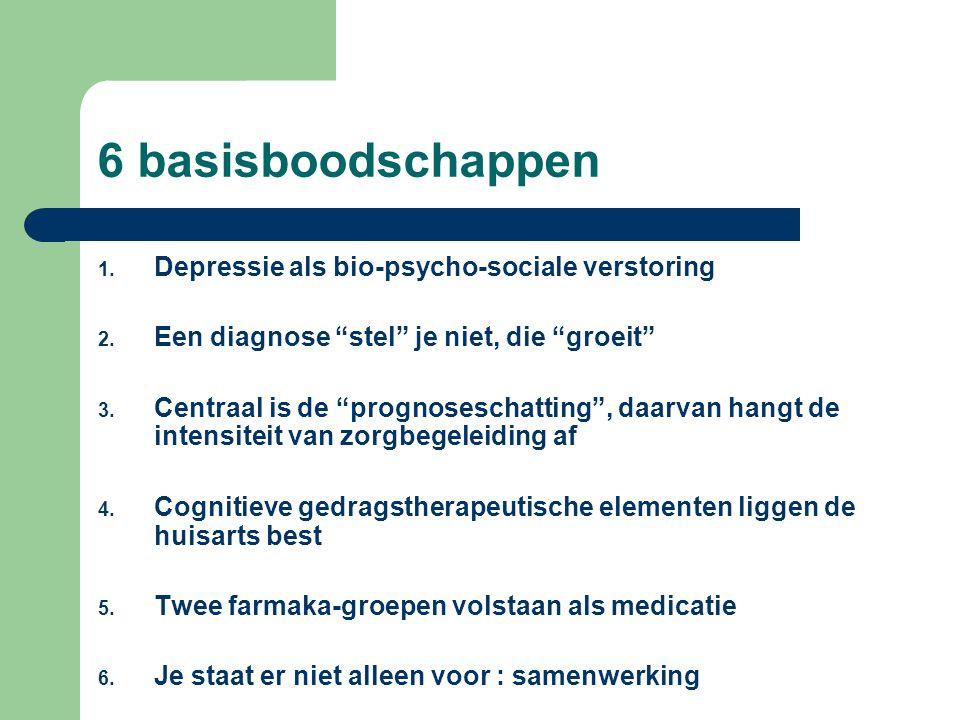6 basisboodschappen Depressie als bio-psycho-sociale verstoring