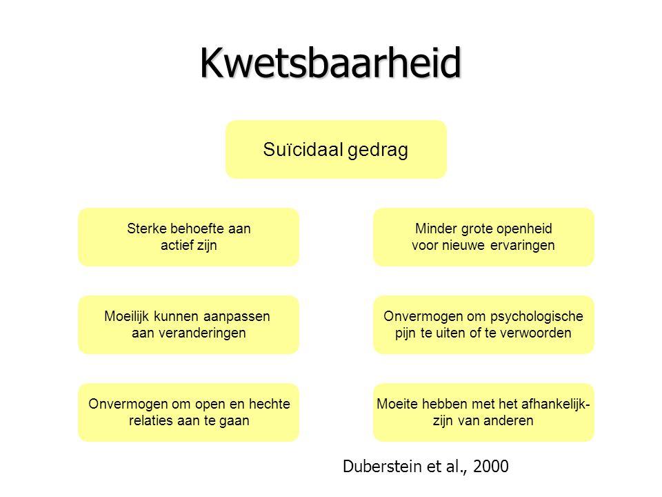 Kwetsbaarheid Duberstein et al., 2000