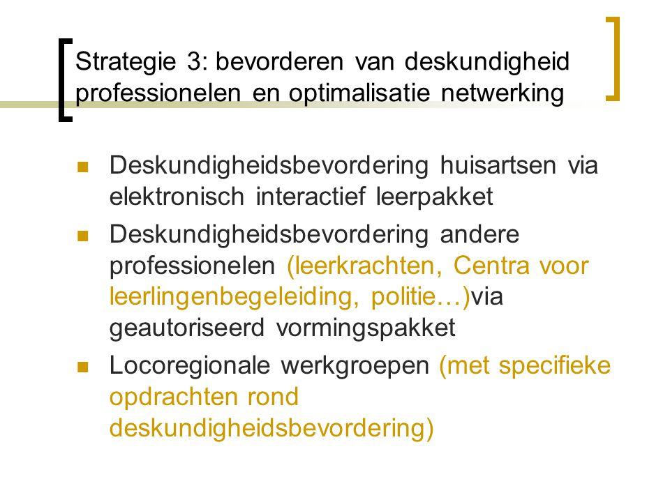 Strategie 3: bevorderen van deskundigheid professionelen en optimalisatie netwerking