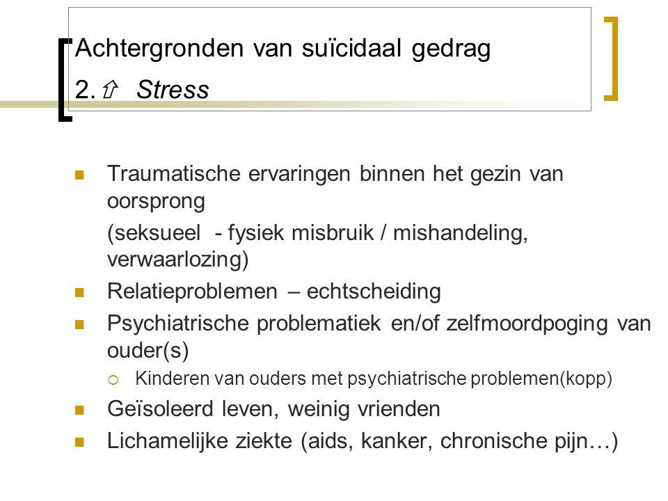 Achtergronden van suïcidaal gedrag 2. Stress
