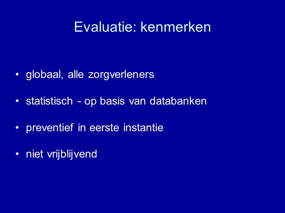 Evaluatie: kenmerken globaal, alle zorgverleners