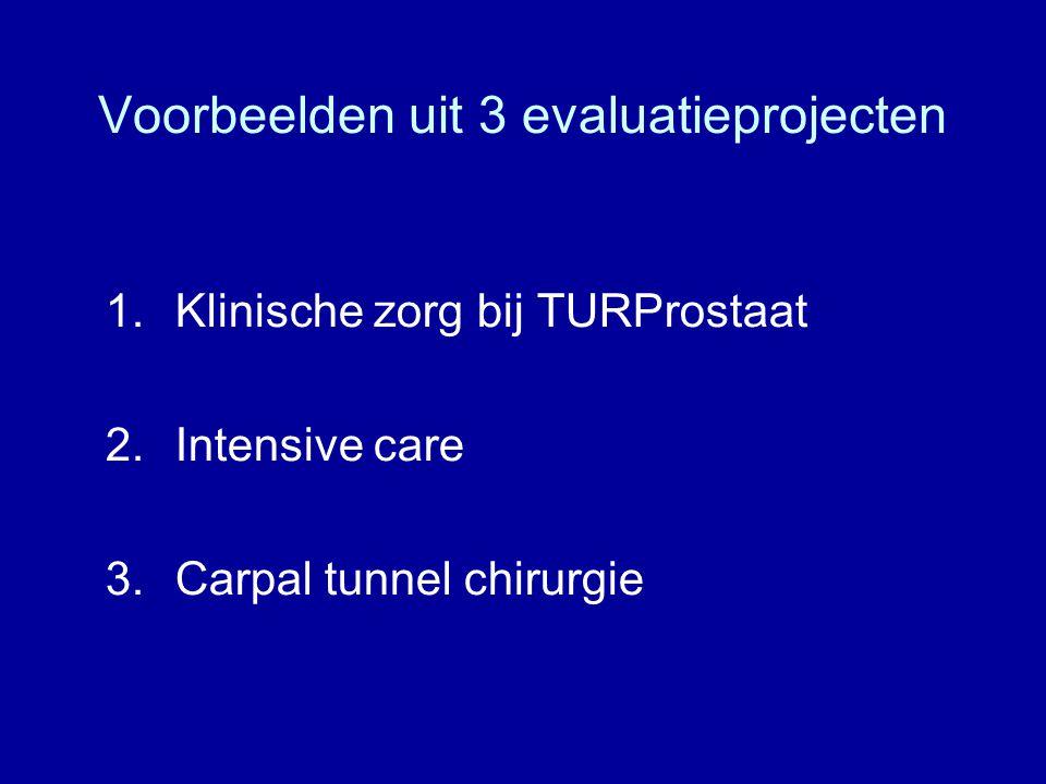 Voorbeelden uit 3 evaluatieprojecten