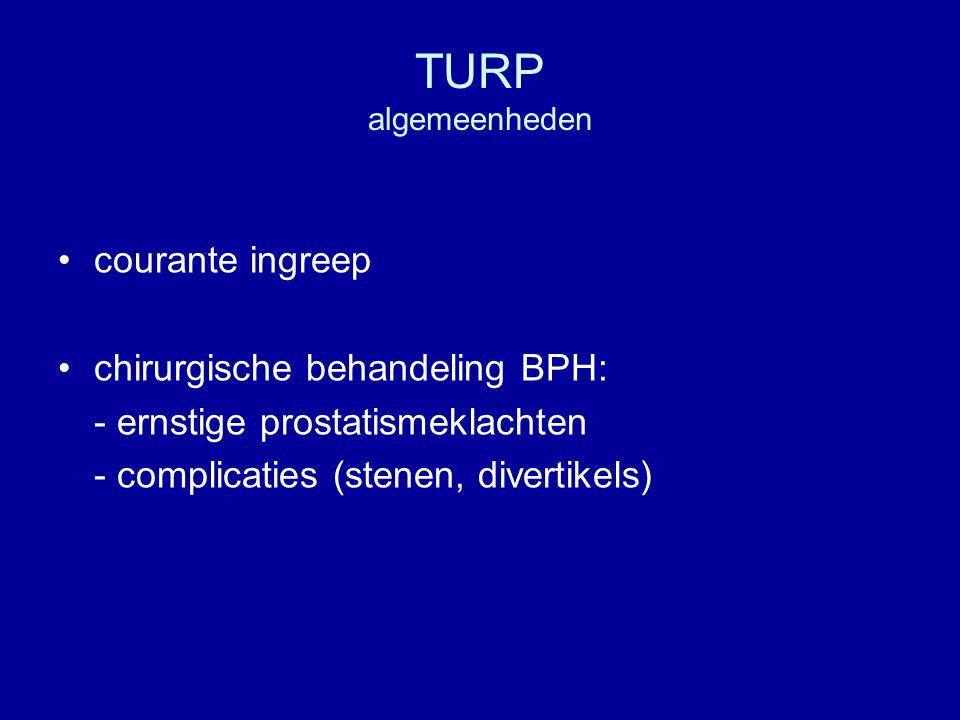TURP algemeenheden courante ingreep chirurgische behandeling BPH: