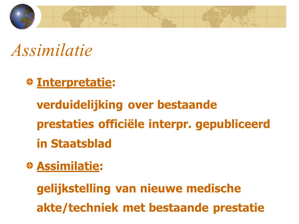 Assimilatie Interpretatie: