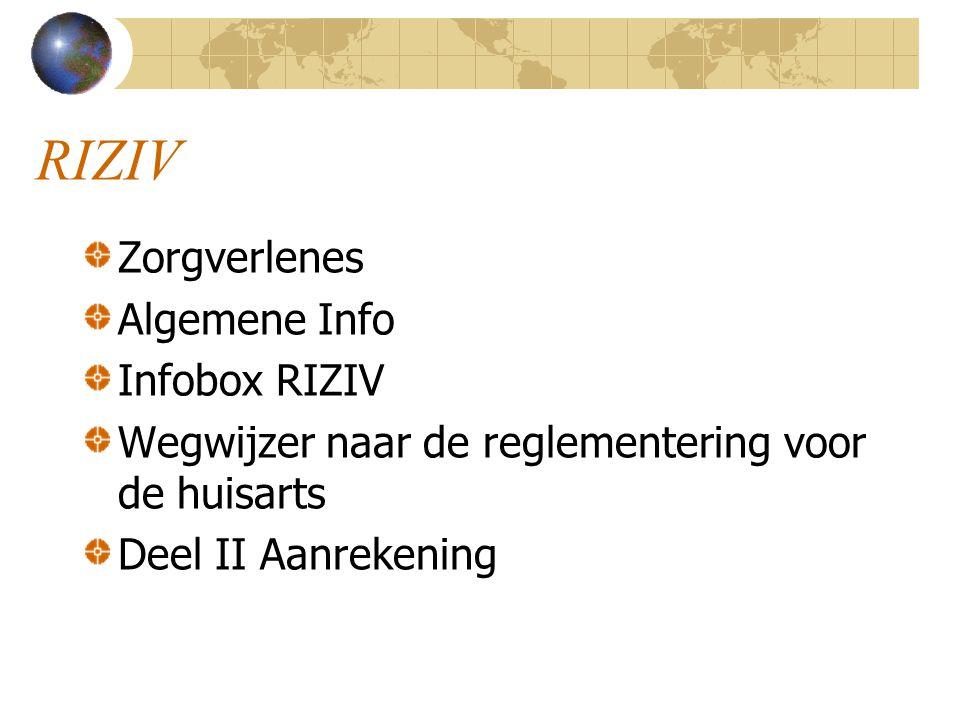RIZIV Zorgverlenes Algemene Info Infobox RIZIV