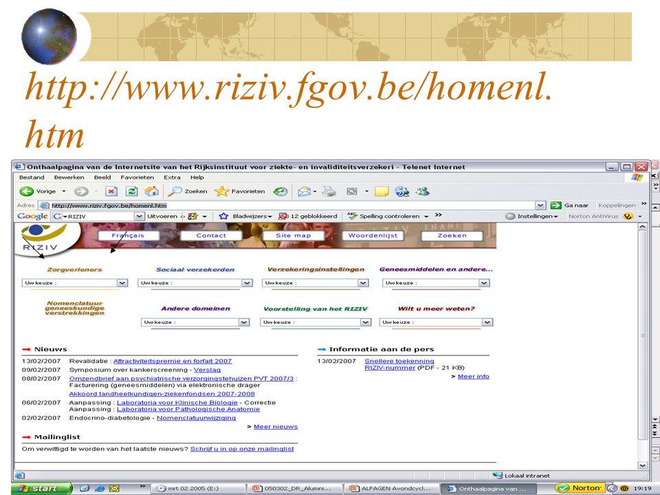 http://www.riziv.fgov.be/homenl.htm