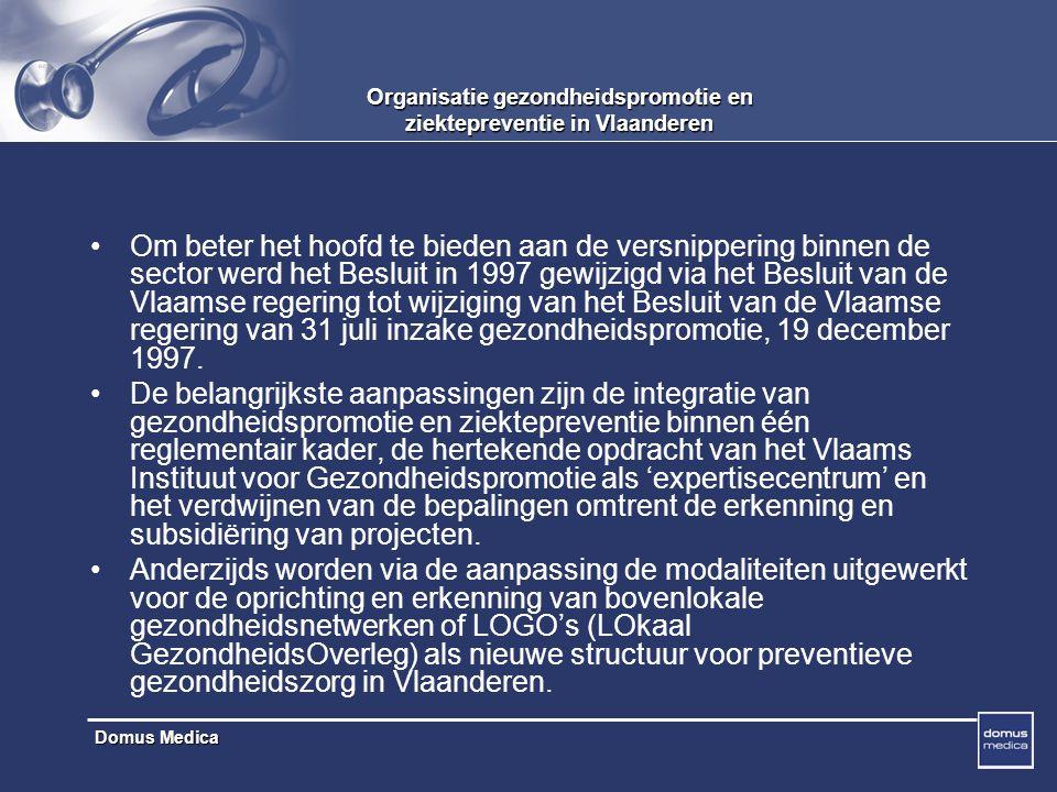 Organisatie gezondheidspromotie en ziektepreventie in Vlaanderen