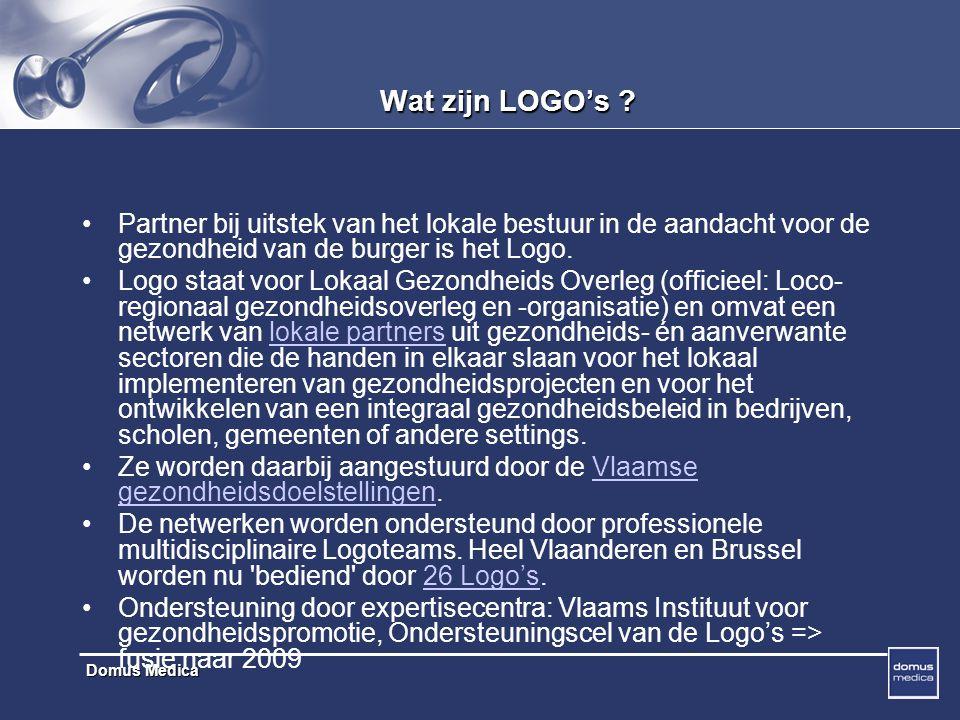 Wat zijn LOGO's Partner bij uitstek van het lokale bestuur in de aandacht voor de gezondheid van de burger is het Logo.