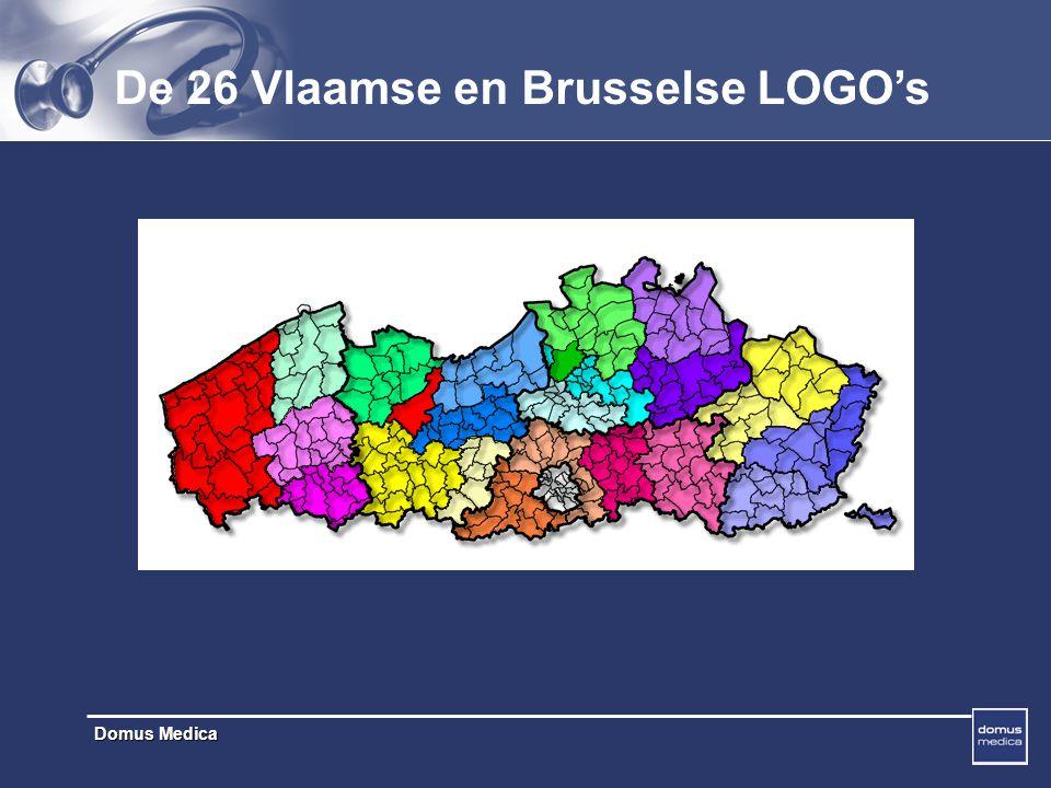 De 26 Vlaamse en Brusselse LOGO's