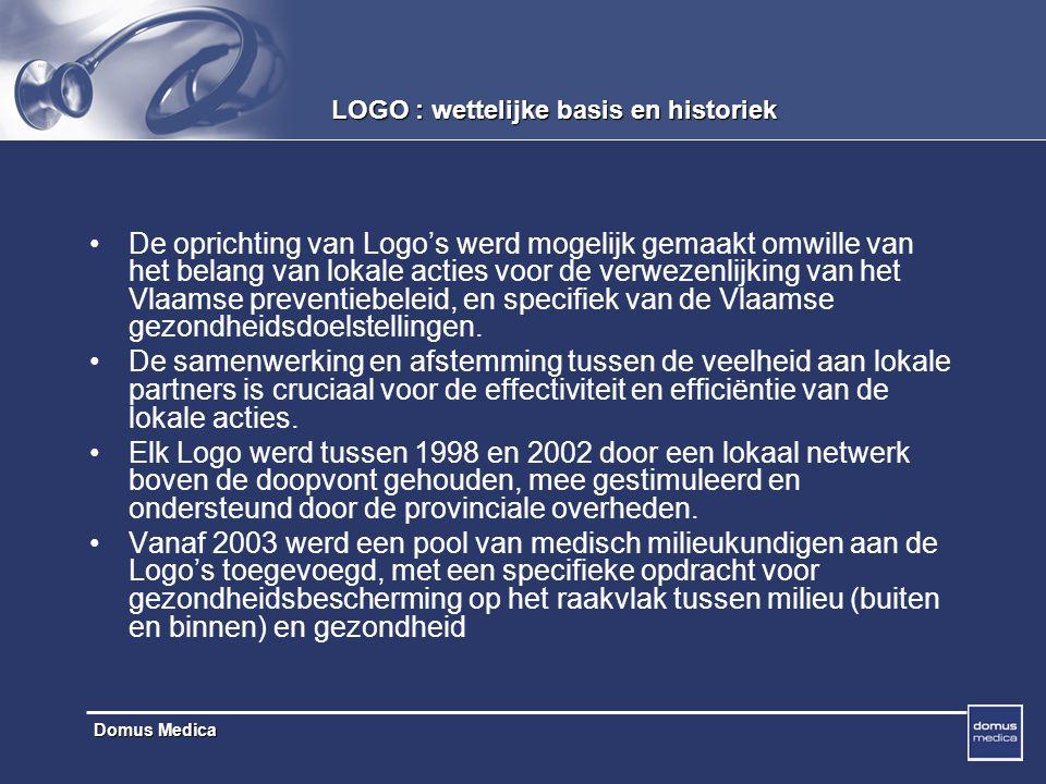LOGO : wettelijke basis en historiek