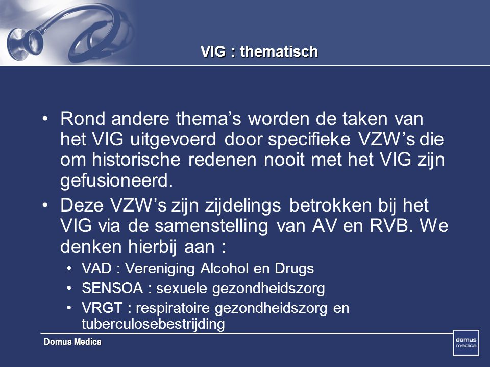 VIG : thematisch