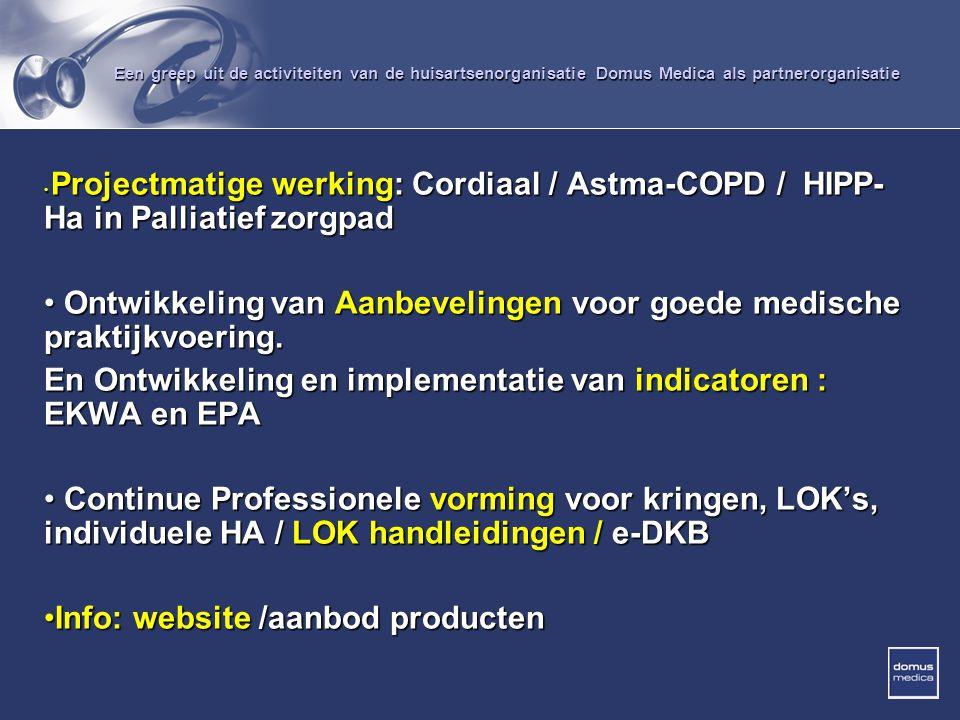 Ontwikkeling van Aanbevelingen voor goede medische praktijkvoering.