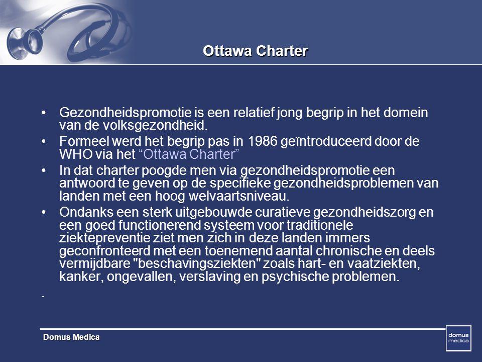 Ottawa Charter Gezondheidspromotie is een relatief jong begrip in het domein van de volksgezondheid.