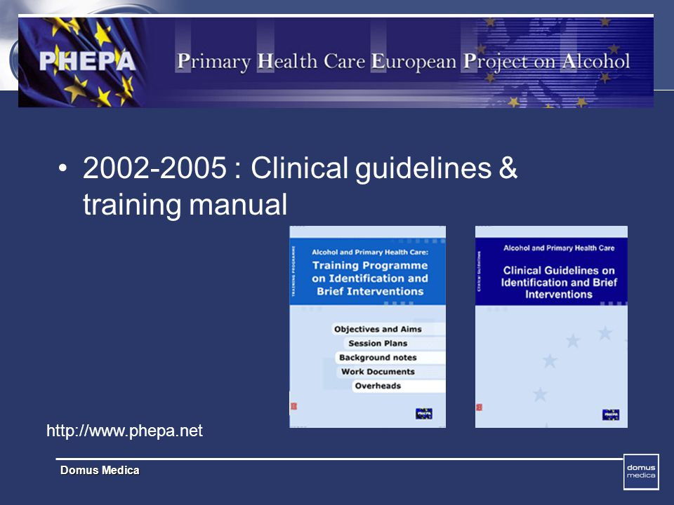 2002-2005 : Clinical guidelines & training manual