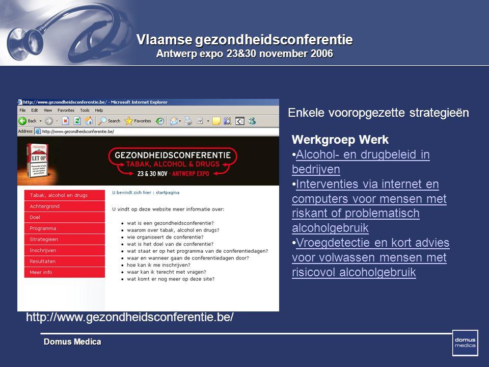 Vlaamse gezondheidsconferentie Antwerp expo 23&30 november 2006