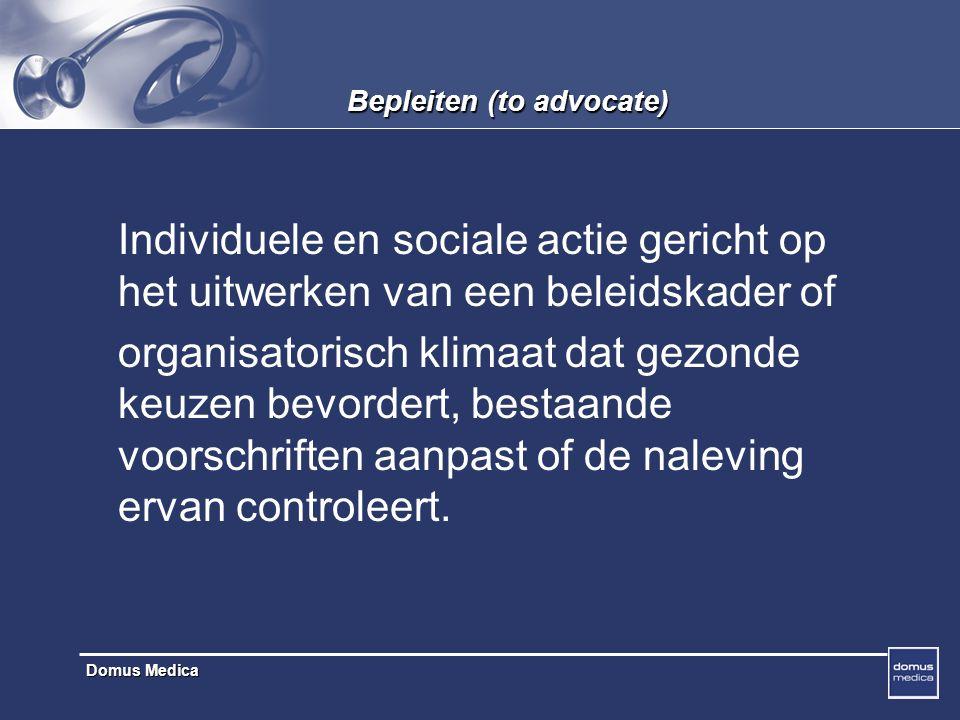 Bepleiten (to advocate)