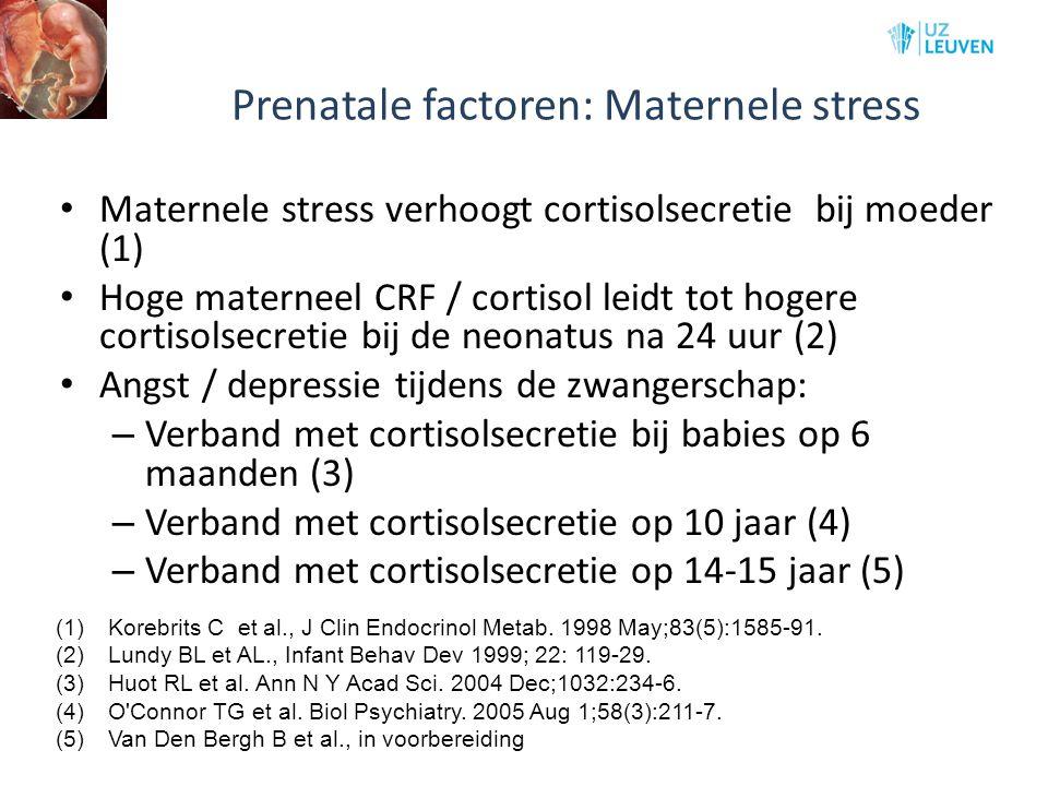 Prenatale factoren: Maternele stress
