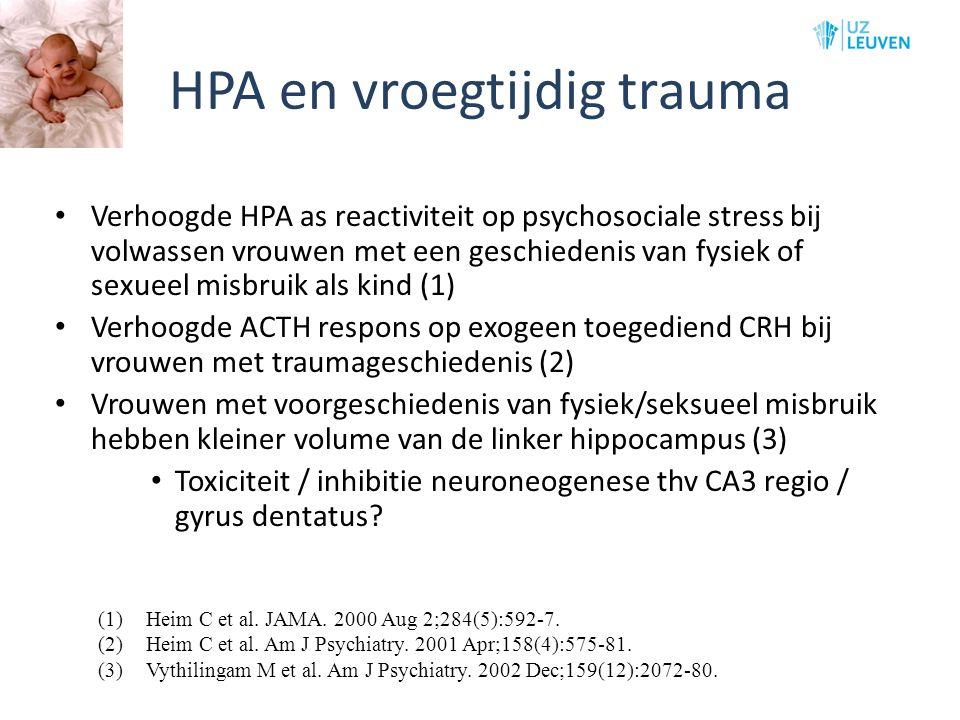 HPA en vroegtijdig trauma