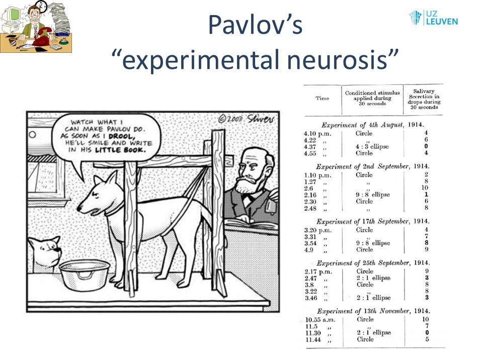 Pavlov's experimental neurosis