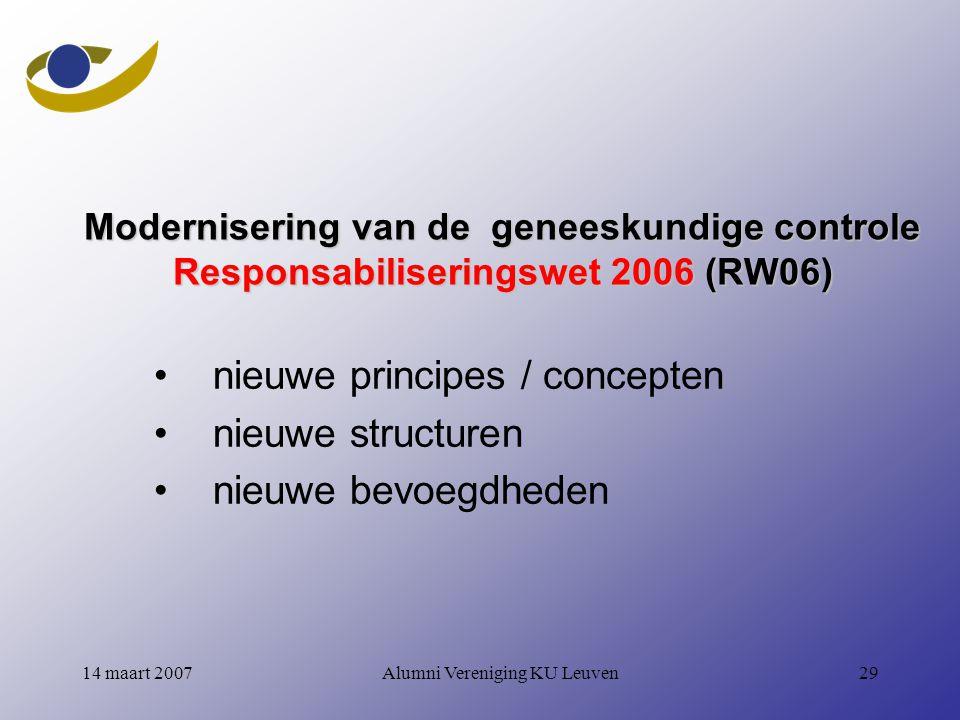 nieuwe principes / concepten nieuwe structuren nieuwe bevoegdheden
