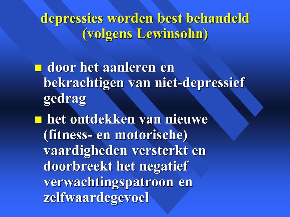 depressies worden best behandeld (volgens Lewinsohn)