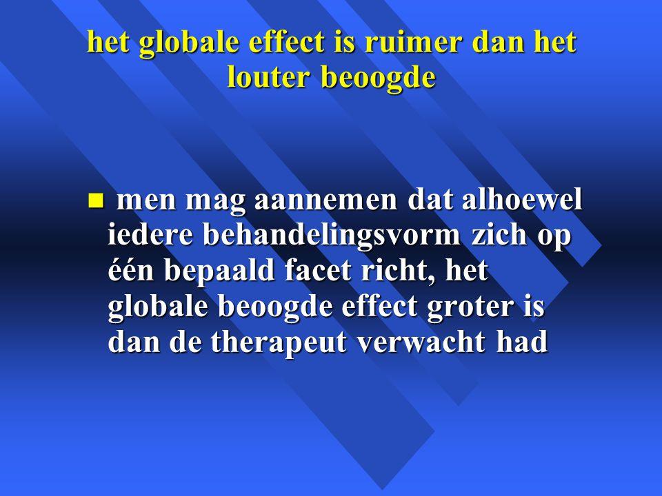 het globale effect is ruimer dan het louter beoogde